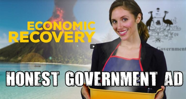 Honest Government Ad | Economic Recovery – Super Satire from Juice Media