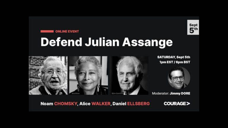 Chomsky, Walker and Ellsberg Defend Julian Assange