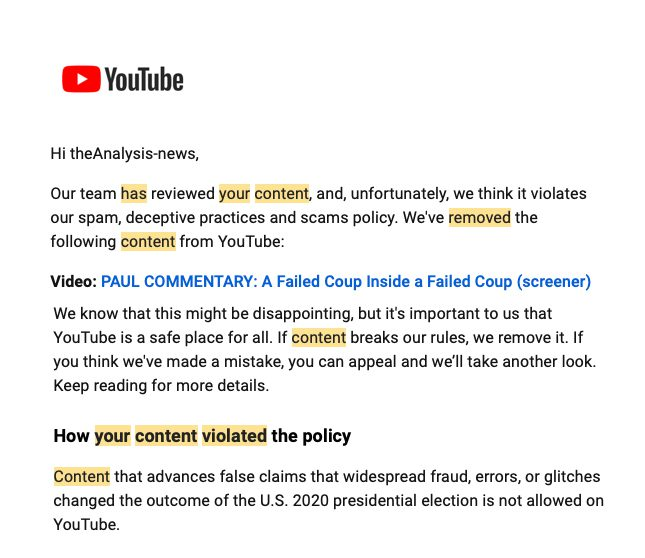 A Failed Coup Within A Failed Coup – The Story YouTube Doesn't Want You to See